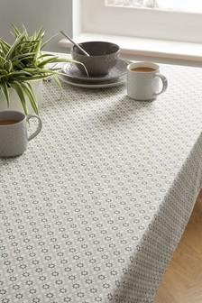 Linen Mix Wipe Clean Tablecloth