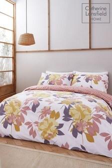 סט ציפה לפוך וציפית של Catherine Lansfield דגם Elina Floral Easy Care