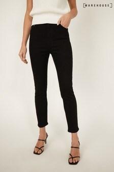 Warehouse Black High Waisted Skinny Jeans