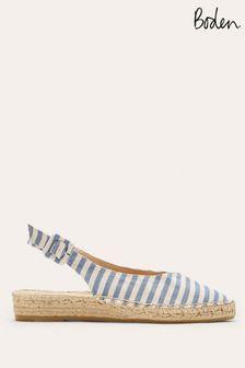 Boden Blue Slingback Espadrille Sandals