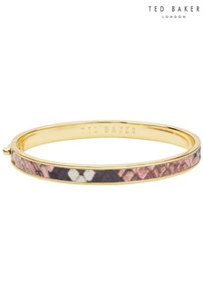 Ted Baker Sinze Snake Pattern Hinged Bangle