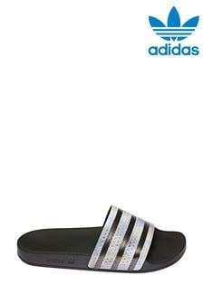 Adidas Originals Black Adilette Sliders (219477) | $41