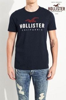 Camiseta de manga corta en azul marino de Hollister
