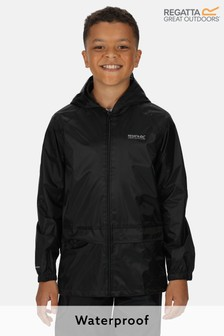 Regatta Black Kids Stormbreak Waterproof Jacket