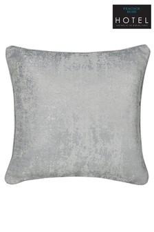 Peacock Blue Roma Metallic Weave Cushion