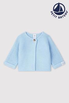 Cardigan Petit Bateau bleu en maille