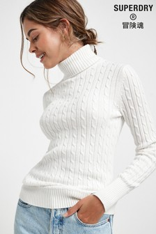 Superdry White Croyde Sweater