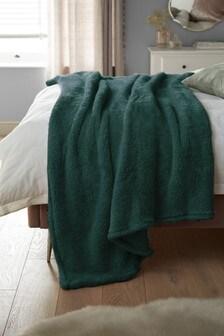 غطاء فليس ناعم أخضر دافئ
