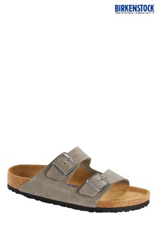 Birkenstock® Grey Suede Arizona Sandals