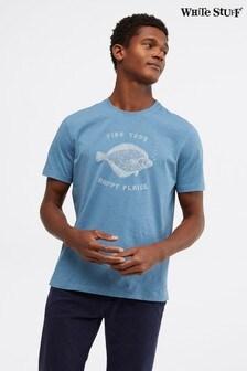 White Stuff Bio-T-Shirt mit Scholle, Blau