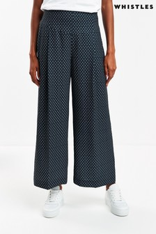 Whistles Printed Crepe Trousers