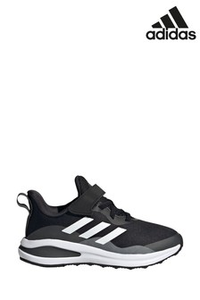 adidas Black FortaRun Youth + Junior Trainers