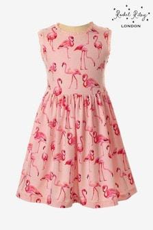 Rachel Riley Kleid mit Flamingo-Muster, Pink