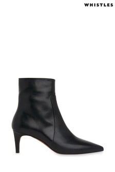 Whistles Black Celia Kitten Heel Boots