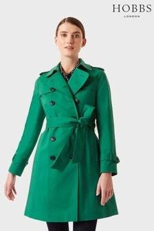 מעיל טרנץ' של Hobbs דגם Saskia בירוק