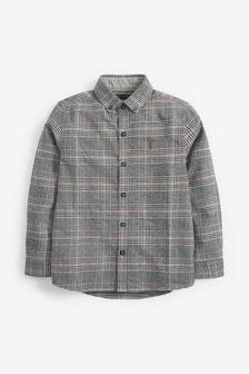 قميص كاروه كم طويل (3-16 سنة)