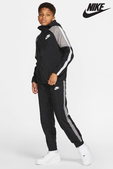 Nike zwart/grijs geweven trainingspak