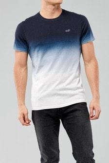 Hollister Navy Ombre T-Shirt