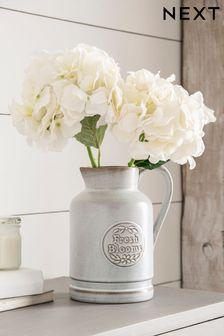 Grey Fresh Blooms Ceramic Jug