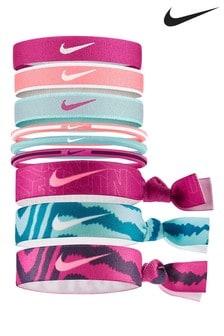 Nike Pink Ponytail Holders 9 Pack