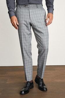 Slim Fit Textured Suit: Trousers