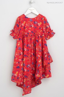 Angel & Rocket Red Ditsy Floral Aysemetric Dress