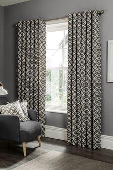 Studio G Charcoal Castello Eyelet Curtains