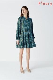 فستان متوسط الطول مطبوع Victoria من Finery