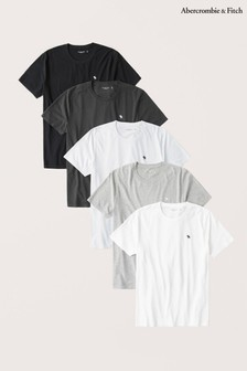 Abercrombie & Fitch T-Shirts, 5er-Pack