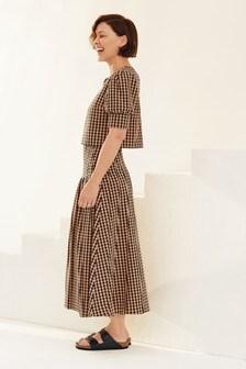 Emma Willis Gingham Midi Skirt