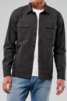 Hollister Black Button Through Shirt