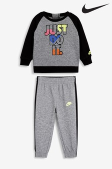 Nike Infant Grey JDI Crew And Joggers Set