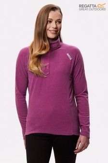 Regatta Purple Women's Montes Half Zip Fleece