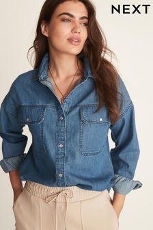 חולצת ג'ינס אוברסייז