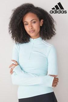 adidas ISC Sweatshirt mit 1/4-Reißverschluss, Mintgrün