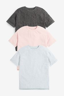 3 Pack Oversized T-Shirts (3-16yrs)