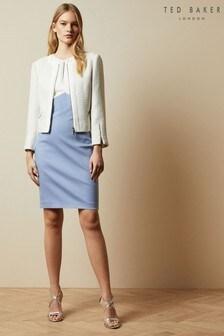 Ted Baker Blue Turga Fitted Mockable Dress