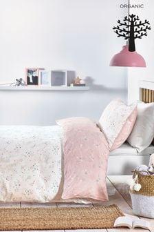 Organic Cotton Reversible Duvet Cover And Pillowcase Set (222686)   $40 - $58