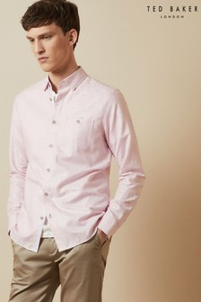 Ted Baker Tiptoe Linen Mix Shirt