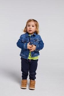 Tommy Hilfiger藍色標準款Trucker夾克外套
