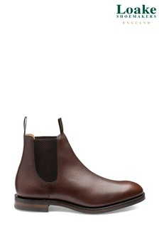 Loake Dark Brown Chatsworth Waxy Leather Chelsea Boots