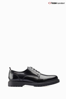 Base London® Black Cog Chunky Sole Derby Shoes