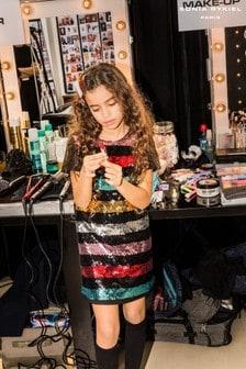فستان بترتر مقلم قوس قزح ألوان متعددة من Sonia Rykiel