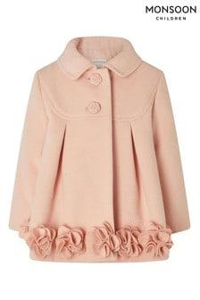 Monsoon Pink Baby Ava Coat