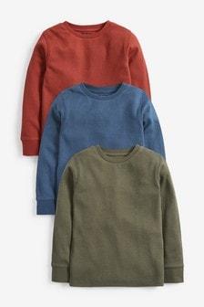 3 Pack Cosy Eyelet T-Shirts (3-16yrs)