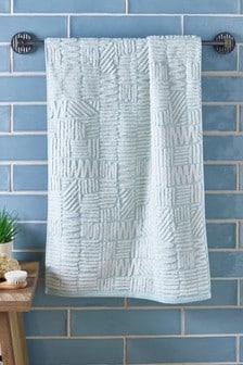 Фактурное полотенце с абстрактным узором