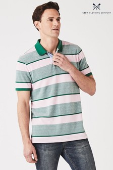 Crew Clothing Pink Oxford Polo