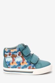 Ботинки на липучках с камуфляжным принтом (Младшего возраста)
