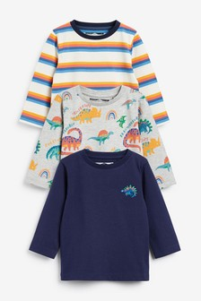 3 Pack Jersey Dino T-Shirts (3mths-7yrs)