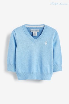 Темно-синий свитер с логотипом Ralph Lauren